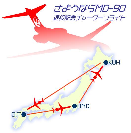 さようならMD90型機 退役記念チャーターフライト 2日間
